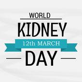 Werelddag van de nier. — Stockvector