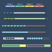 Conjunto de barras de progreso — Vector de stock