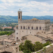 A view on Palazzo dei Consoli roofs adjacent in Gubbio, Umbria — Stock Photo #65725535