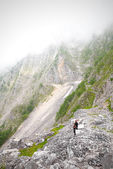 Near a landslide in a canyon of the Apuan Alps — Stock Photo
