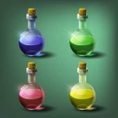 Bottles of potion set — Stock Vector