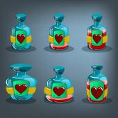 Bottles of love potion — Wektor stockowy