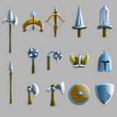 Old weapon icons — Stock Vector