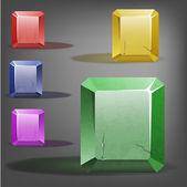 Colorful Gemstone set  Illustration — Stock Vector