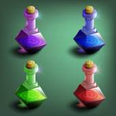 Bottles of potion set — Wektor stockowy