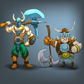 King barbarians characters — Stock Vector