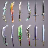 Old  swords set — Stock Vector