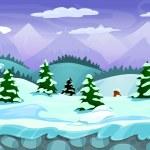 Seamless cartoon winter landscape — Stock Vector #67077099
