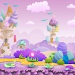 Постер, плакат: Seamless cartoon fairytale landscape