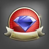 Distintivi di gemma. illustrazione. — Vettoriale Stock