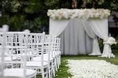 Wedding ceremony decorations — Stock Photo