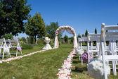 Dekoracja ceremonii ślubu — Zdjęcie stockowe
