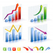 Business Graph with arrow showing profits and gains — Stock Vector #69518801