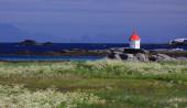 Summer landscape, Arctic Circle — Stock Photo