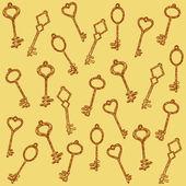 Pattern keys — Stock Vector