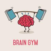 Brain Gym — Stock Vector