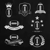 American football chalk — Stockvector
