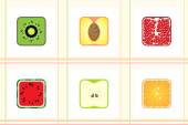 Square fruit in terms of texture — Vetorial Stock