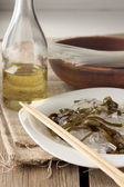 Glass noodles with laminaria — Stock Photo