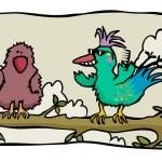 Cool bird of paradise — Stock Vector #66201055