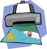 imprimante laser dessin anim image vectorielle mhatzapa 59809261. Black Bedroom Furniture Sets. Home Design Ideas