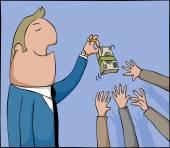 Money tease — Stock Vector