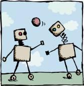 Robota fotbalisty — Stock vektor