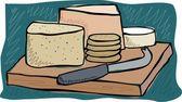 Peynir kurulu — Stok Vektör
