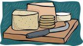 Cheese board — Stock Vector