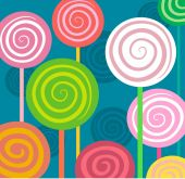 Spiral lollipops in a square. — Stock Vector