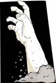 Undead hand — Stock Vector