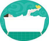 La hora del baño — Vector de stock