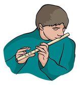 Flautist — Stock Vector