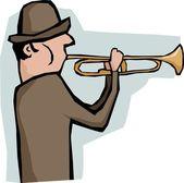 Trompetista — Vector de stock