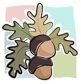 Sketcy acorns — Stock Vector