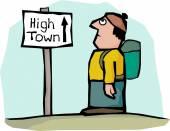 High town — Stockvektor