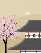 Templo japonês — Vetor de Stock