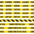 Yellow Hazard Tape Line Collection — Stock Photo #71323907