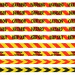 Red and Yellow Barrier Tape Line Collection — Stock Photo #71323963