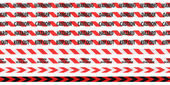 Red and White Barrier Tape Line Collection — Stock Photo