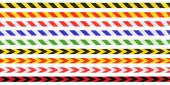 Striped Hazard Tape Line Collection — Stock Photo