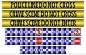 Seamless Tileable Police and Crime Scene Tape Textures Collection — Stock Photo
