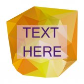 Vector polygonal label for text — Stock Vector