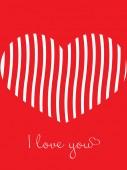 Vector Happy Valentine's heart love card background — Vettoriale Stock