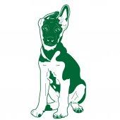German Shepherd Puppy Vector — Stock Vector