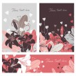 Vector Floral card set with place for your text. — Stock Vector #77710066