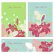 Vector Floral card set with place for your text. — Stock Vector #77710084