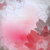 Carte Floral vector avec place pour votre texte. — Vecteur