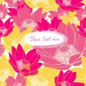 Διάνυσμα Floral κάρτα με θέση για το κείμενό σας. — Διανυσματικό Αρχείο