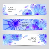 Vector floral and plant  banners set. — Stock Vector